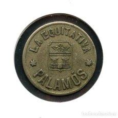 Monedas locales: FICHA, COOPERATIVA LA EQUITATIVA, PALAMÓS, VALOR: 1 PESETA. Lote 155012578