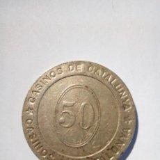 Monedas locales: FICHA DEL CASINO DE CATALUÑA . Lote 156735970