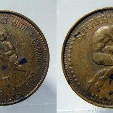 Monedas locales: TOKEN EROTICO SIGNO DEL ZODIACO GEMINIS. Lote 157957442
