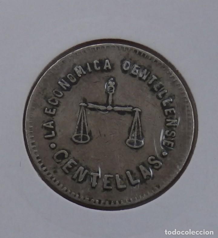 FICHA DE 1 PESETA COOPERATIVA LA ECONÓMICA CENTELLENSE ( CENTELLES ) (Numismática - España Modernas y Contemporáneas - Locales y Fichas Dinerarias y Comerciales)