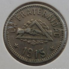 Monedas locales: ANTIGUA FICHA DINERARIA - COOPERATIVA LA FRATERNIDAD, BARCELONETA. AÑO 1915 - 1 PESETA. Lote 158283986