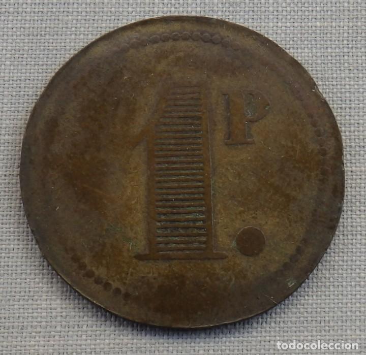 FICHA COMERCIAL 1 PESETA, A IDENTIFICAR (Numismática - España Modernas y Contemporáneas - Locales y Fichas Dinerarias y Comerciales)