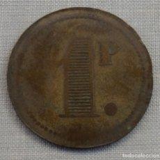Monedas locales: FICHA COMERCIAL 1 PESETA, A IDENTIFICAR. Lote 158285170