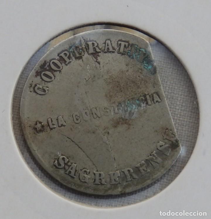 COOPERATIVA LA CONSTANCIA SAGRERENSE - 1 PESETA (Numismática - España Modernas y Contemporáneas - Locales y Fichas Dinerarias y Comerciales)