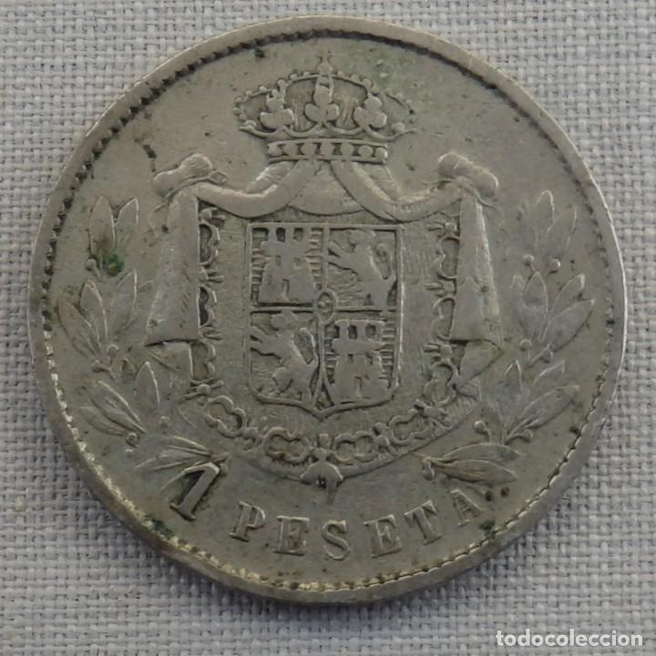 MUY BONITA FICHA DE CASINO MODERNISTA, 1 PESETA (Numismática - España Modernas y Contemporáneas - Locales y Fichas Dinerarias y Comerciales)