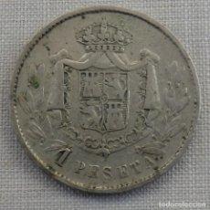 Monedas locales: MUY BONITA FICHA DE CASINO MODERNISTA, 1 PESETA. Lote 158299446
