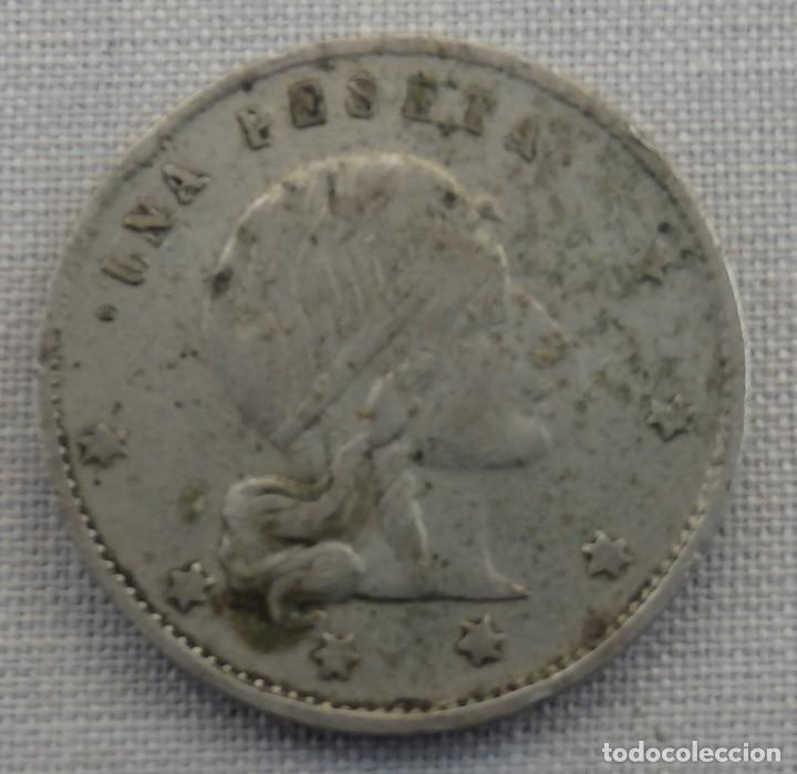 Monedas locales: MUY BONITA FICHA DE CASINO MODERNISTA, 1 PESETA - Foto 2 - 158299446