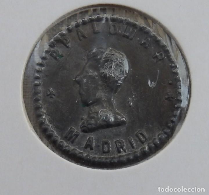 FICHA UNA PESETA P.PALOMAR MADRID BUSTO (Numismática - España Modernas y Contemporáneas - Locales y Fichas Dinerarias y Comerciales)