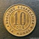 Monedas locales: FICHA DE 10 CENTIMOS DE LA SOCIEDAD COOPERATIVA LA MORAL BADALONA. Lote 160311334