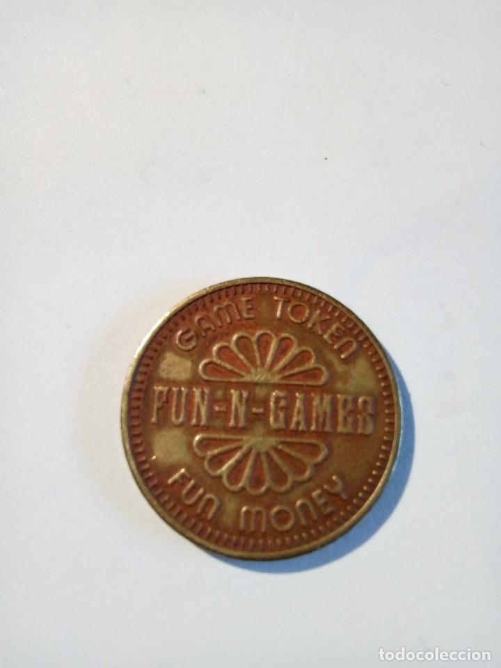 GAME TOKEN FUN-N-GAMES FUN MONEY NO CASH VALUE (Numismática - España Modernas y Contemporáneas - Locales y Fichas Dinerarias y Comerciales)