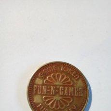Monedas locales: GAME TOKEN FUN-N-GAMES FUN MONEY NO CASH VALUE. Lote 159075242