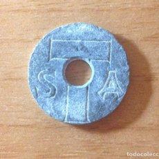 Monedas locales: ANTIGUO TOKEN, FICHA MUY ANTIGUA ¿PARQUE DE ATRACCIONES TIBIDABO (BARCELONA)? ÚNICO A LA VENTA. Lote 159281522