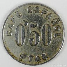 Monedas locales: 1 FICHA 0.50 PTAS. CAFÉ ESPAÑOL. ESPAÑA. Lote 159627126