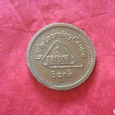 Monedas locales: FICHA DE PLÁSTICO 1 PENIQUE ELC BANK.. Lote 159681902