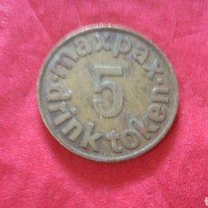 Monedas locales: FICHA PARA BEBIDAS. Lote 159683654