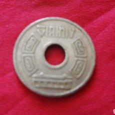 Monedas locales: FICHA A IDENTIFICAR. PUEDE SER DE COREA. Lote 159727805
