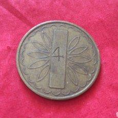 Monedas locales: FICHA DE 2 NUEVOS PENIQUES. RESELLO 4. Lote 159736466