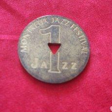 Monedas locales: FICHA 1 JAZZ. FESTIVAL DE MONTREUX. Lote 159736997