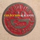 Monedas locales: MERCADO DEL BORNE 1 BARCELONA - MONEDA FICHA DE 20 - BONITA PIEZA DE COLOR ROJO DE EUSEBIO TUBAU. Lote 160295258
