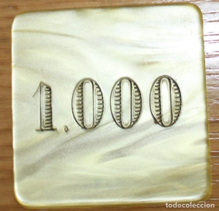 VALENCIA DIFICIL FICHA DE JUEGO CASINO SOCIEDAD VALENCIANA DE CAZA Y TIRO 1000. (Numismática - España Modernas y Contemporáneas - Locales y Fichas Dinerarias y Comerciales)