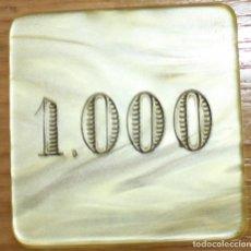 Monedas locales: VALENCIA DIFICIL FICHA DE JUEGO CASINO SOCIEDAD VALENCIANA DE CAZA Y TIRO 1000.. Lote 160313530