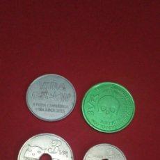 Monedas locales: LOTE DE 4 FICHAS/TOKEN. VIÑA ROCK. VILLARROBLEDO. 2009, 2013 Y 2015.. Lote 160469317