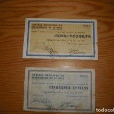 Monedas locales: BILLETES LOCALES CASTELLFOLLIT DE LA ROCA. Lote 160581962