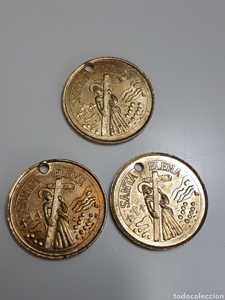 Monedas locales: 3 fichas medalla o moneda de hijo de la sociedad santa elena - Foto 2 - 161495174