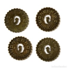 Monedas locales: LOTE 4 MONEGRINOS - MONEDA DE 1€ - MONEGROS DESERT FESTIVAL - FRAGA HUESCA. Lote 161787918