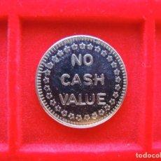 Monedas locales: FICHA - TOKEN 'NO CASH VALUE', EE.UU., ÁGUILA. Lote 162355334