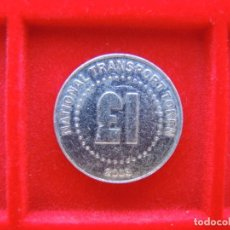 Monedas locales: FICHA - TOKEN 'NATIONAL TRANSPORT TOKEN', REINO UNIDO, VALOR £1, 2003. Lote 162357606