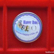 Monedas locales: FICHA - TOKEN 'HAPPY RIDE', ACTIVACIÓN JUEGOS. Lote 162372450