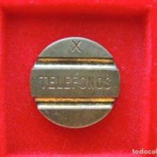 Monedas locales: FICHA - TOKEN 'TELEFONOS', SERIE 'X'. Lote 162380702
