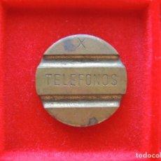 Monedas locales: FICHA - TOKEN 'TELEFONOS', SERIE 'X'. Lote 162380962