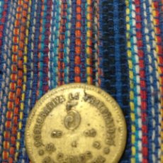 Monedas locales: TI- 5 CÉNTIMOS 1915 COOPERATIVA LA FRATERNIDAD BARCELONA. Lote 163791581