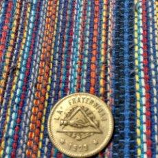 Monedas locales: TI- 25 CÉNTIMOS 1923 COOPERATIVA LA FRATERNIDAD BARCELONA. Lote 163791757