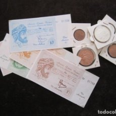Monedas locales: JUEGO COMPLETO DE MONEDAS Y BILLETES DE LA AXARQUIA. Lote 164639322