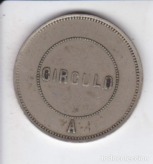 Monedas locales: FICHA DE 5 PESETAS DEL CASINO DEL CIRCULO ARTISTICO DE BARCELONA (moneda) - Foto 2 - 91379090