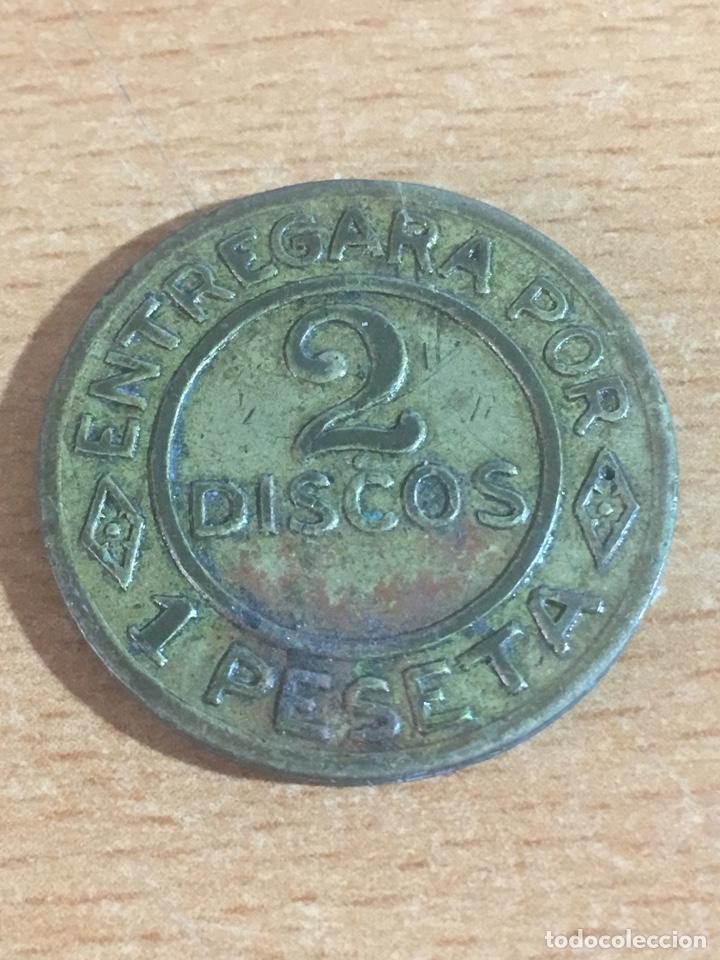 FICHA NAVAL 2 DISCOS 1 PESETA (Numismática - España Modernas y Contemporáneas - Locales y Fichas Dinerarias y Comerciales)