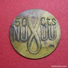 Monedas locales: 50 CENTIMOS - COCINAS ECONOMICAS - ASOCIACION SEVILLANA DE CARIDAD - PRINCIPIOS SIGLO XX - ESCASA. Lote 165618806