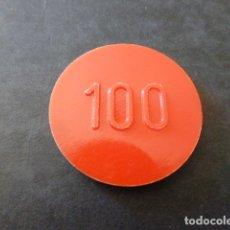 Monedas locales: FICHA CASINO SANTANDER CLUB DE REGATAS 100 PESETAS. Lote 167099085