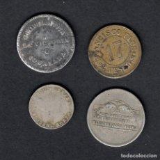 Monedas locales: COLECCION DE 4 FICHAS -FRANCISCO FLOR-COOPERATIVA LA VICTORIA IGUALADA-COOP..S.JUAN HORTA-U.C.EL REL. Lote 168057908
