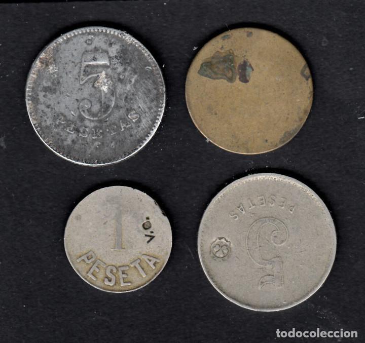 Monedas locales: COLECCION DE 4 FICHAS -FRANCISCO FLOR-COOPERATIVA LA VICTORIA IGUALADA-COOP..S.JUAN HORTA-U.C.EL REL - Foto 2 - 168057908