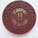 Monedas locales: BONITA Y ANTIGUA FICHA TOKEN JETON **CASINO DE LA TOJA** O GROVE (PONTEVEDRA) VALOR 100 PESETAS.. Lote 168295892