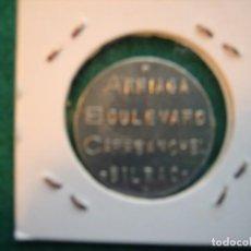 Monedas locales: 1 FICHA. BILBAO, BARES ARRIAGA, BOULEVARD, Y CARABANCHEL. 1 PESETA. Lote 168498372