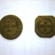 Monedas locales: 2 FICHAS COOPERATIVA OBRERA DE CONSUMO. BASAURI, VIZCAYA. 1 Y 2 KILOS DE PAN. Lote 170366860