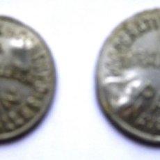 Monedas locales: 2 FICHAS COOPERATIVA DE CONSUMO. MIRAVALLES, VIZCAYA. 1 Y 2 KILOS. VASCO. Lote 170366952