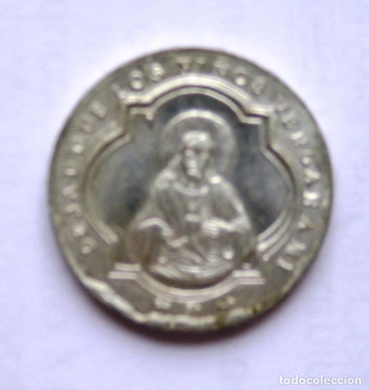 FICHA CATECISMO PARROQUIAL. IHS. 5 (Numismática - España Modernas y Contemporáneas - Locales y Fichas Dinerarias y Comerciales)