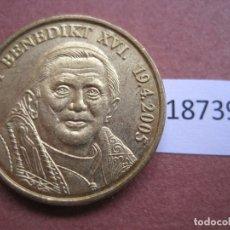 Monnaies locales: FICHA MEDALLA ALEMANIA, BENEDICTO XVI, TOKEN, JETÓN, 16. Lote 170389540