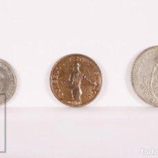 Monete locali: SERIE COMPLETA GUERRA CIVIL, AÑO 1937 - CONSEJO DE ASTURIAS Y LEÓN, 50 CÉNTIMOS, 1 Y 2 PESETAS - EBC. Lote 170662680